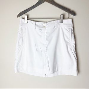 Nike Dri-fit white golf tennis skirt skort SZ M